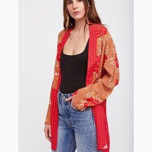 NWT Free People Love Me Knot Kimono Jacket Medium